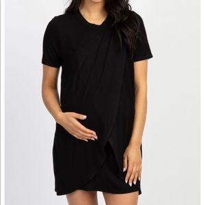 NWT Pinkblush black maternity nursing dress